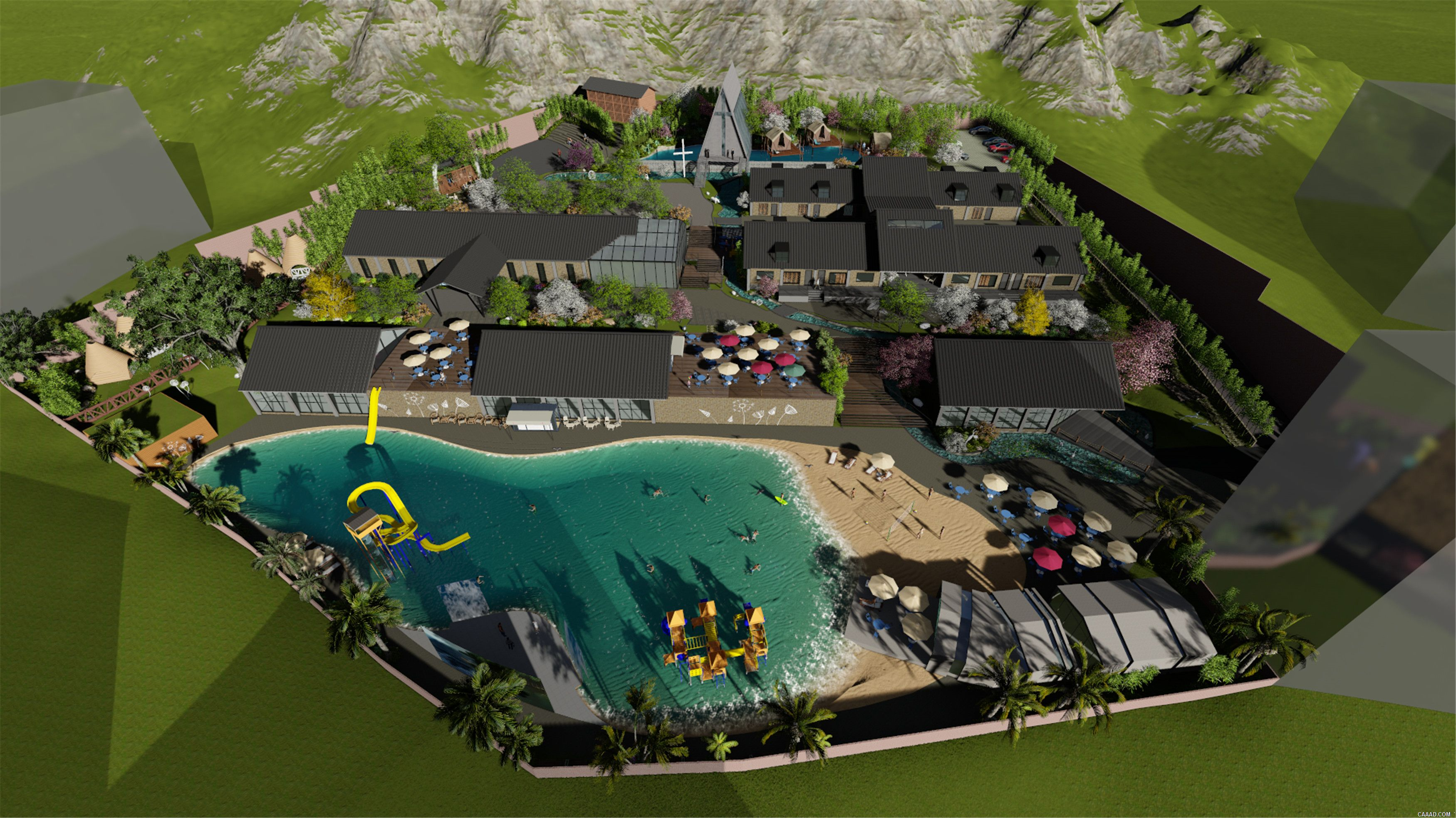 特色小镇设计,云南隐逸水镇